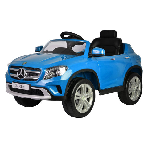 Mercedes Mercedes GLA Ride On 12 Volt Car Working Lights MP3 And Sounds Blue - GarageN1