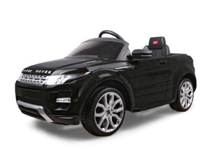 Range Rover Evoque 12V Ride on Car with RC Chrome Wheels And LED Lights Black - GarageN1  - 3