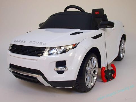 Range Rover Evoque 12V Ride on Car with RC Chrome Wheels And LED Lights White - GarageN1  - 1