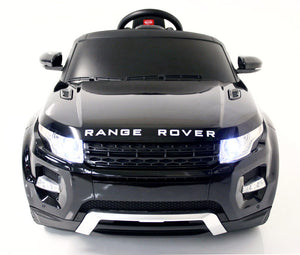 Range Rover Evoque 12V Ride on Car with RC Chrome Wheels And LED Lights Black - GarageN1  - 1