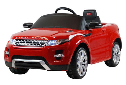 Range Rover Evoque 12V Ride on Car with RC Chrome Wheels And LED Lights Red - GarageN1  - 1