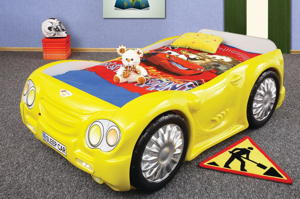 Sleep Car Bed For Kids | Yellow - My Tiny Wheels