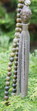 Green Sandalwood/Conch Mala