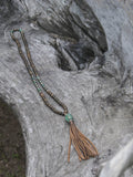 Green Sandalwood and Iron/Pyrite Mala