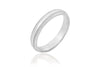 14K Mill Grain Polished Mat 4mm Wedding Ring