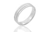 14K Mill Grain Groove 5mm Wedding Rings