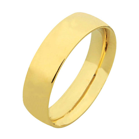 14K Near Flat Plain Wedding Ring