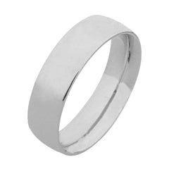 Near Flat Plain Palladium Wedding Ring