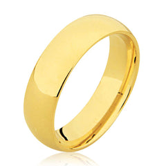 18K Slightly D Shape Plain Wedding Ring
