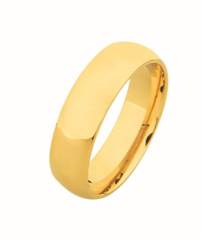 14K Half Court Plain Wedding Ring