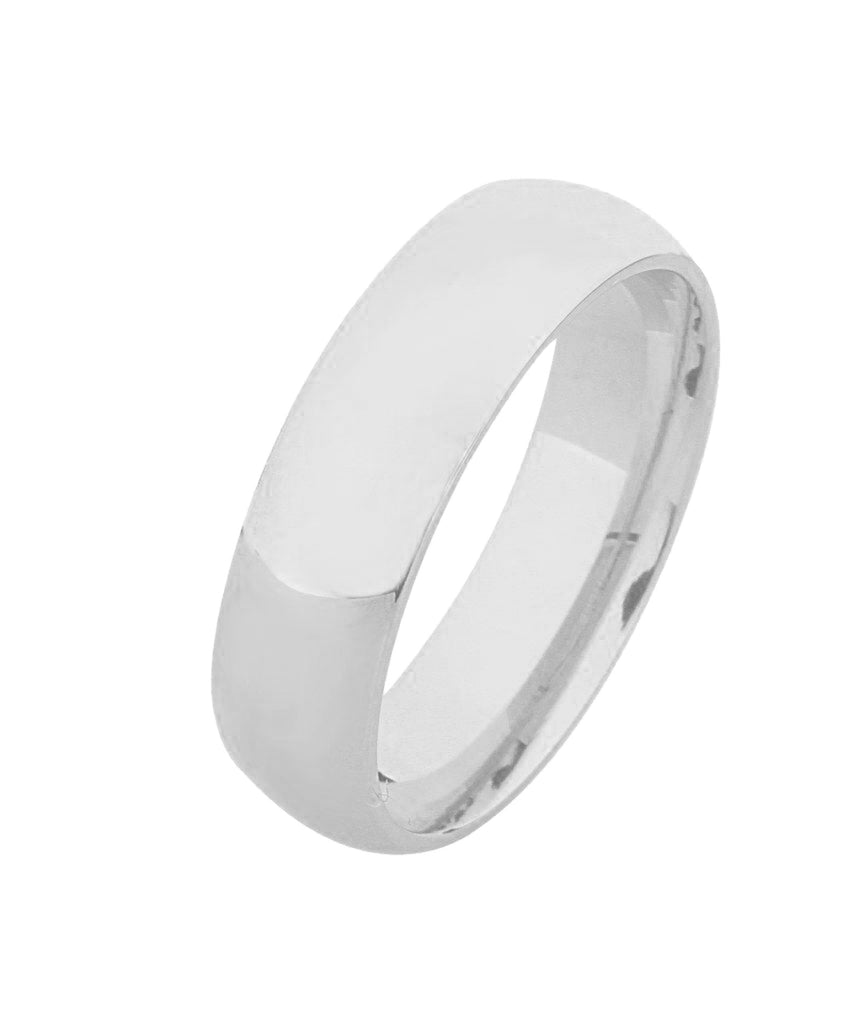 18K Half Court Plain Wedding Ring