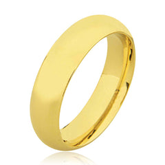 18K Full Court Plain Wedding Ring