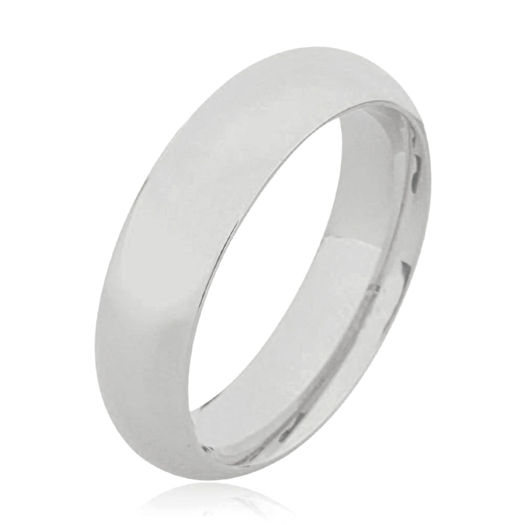 14K Full Court Plain Wedding Ring