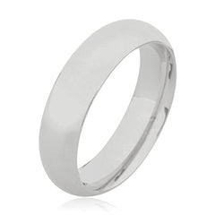 9K Full Court Plain Wedding Ring