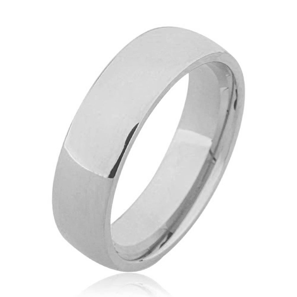 14K Semi Flat Plain Wedding Ring