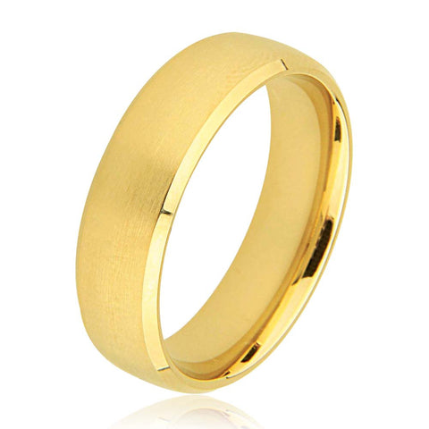 14K Slight D Shape Polished Mat Centre Plain Wedding Ring