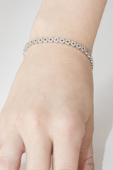 Flower Shaped Diamond 18K White Gold Bracelet - OUT OF STOCK
