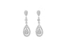 Diamond 18K White Gold Dangly Earrings - OUT OF STOCK