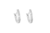 Diamond 18K White Gold Hoop Earrings - OUT OF STOCK