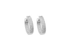 Diamond Hoop 18K White Gold Earrings