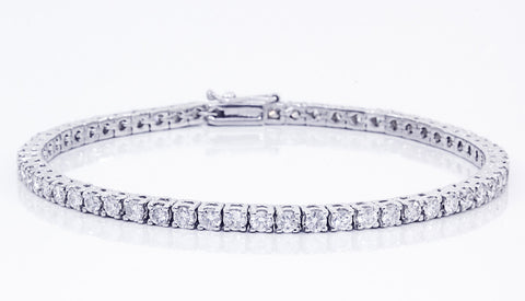 Diamond Tennis 18K White Gold Bracelet - OUT OF STOCK