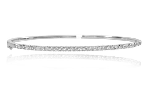 Diamond 18K White Gold Bangle