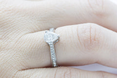 Pear Shaped Diamond 14K White Gold Ring