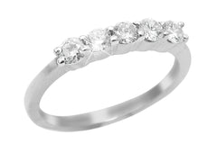 Five Stone Diamond 18K White Gold Ring