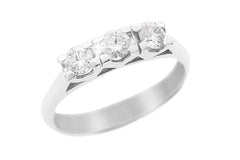 Diamond Trilogy 18K White Gold Ring - OUT OF STOCK