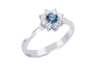 Diamond Cluster 18K White Gold Ring - OUT OF STOCK