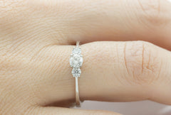 Trilogy Diamond Ring, Set in Platinum - OUT OF STOCK