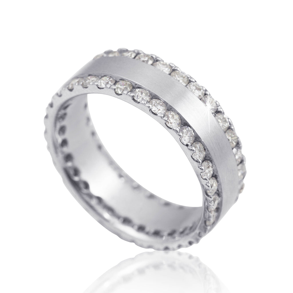 2.30 Carat Diamond 18K White Gold Wedding Band