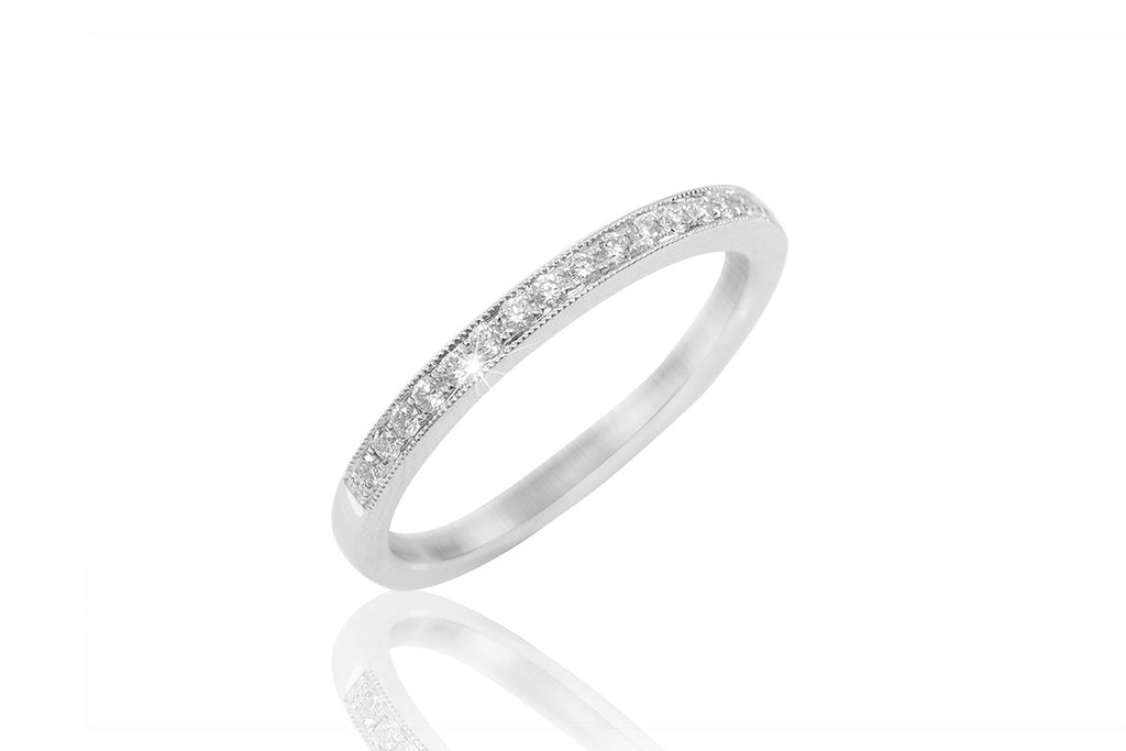 Half Eternity Diamond 18K White Gold Ring - OUT OF STOCK