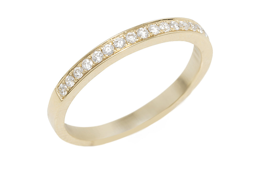Half Eternity Diamond 18K Yellow Gold Ring - OUT OF STOCK