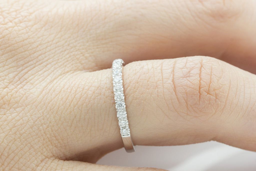 Half Way Diamond Eternity 18K White Gold Ring - OUT OF STOCK