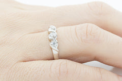 Diamond Trilogy Fancy 18K White Gold Ring - OUT OF STOCK