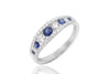 Blue Sapphire and Diamond 18K White Gold Ring - OUT OF STOCK