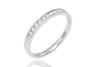Channel Set Diamond Half Eternity 18K White Gold Ring - OUT OF STOCK