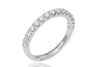 Claw Set Diamond Half Eternity 18K White Gold Ring