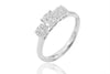 Diamond Trilogy 18K White Gold Ring