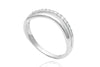 0.17 Carat Diamond Shaped 18K White Gold Wedding Band
