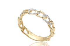 Linked Diamond 18K Yellow Gold Ring