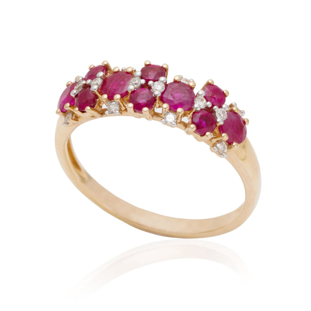 Ruby and Diamond Dress Ring 18K Rose Gold OUT OF STOCK