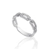 Diamond Link Fancy 18K White Gold Eternity Ring