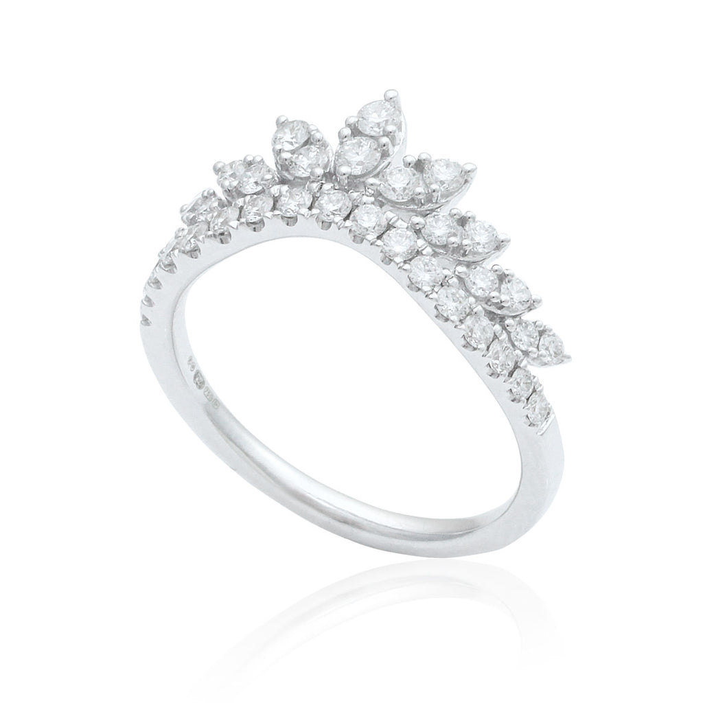 Tiara 18K White Gold Diamond Ring