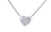 Heart Shaped Diamond 18K White Gold Necklace