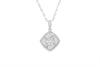 Mirror Effect 18K White Gold Diamond Pendant