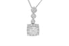 Diamond Square 18K White Gold Pendant