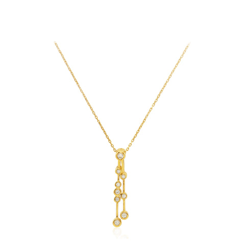 Bubble Diamond 18K Yellow Gold Pendant