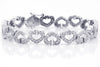 Heart Shaped Diamond 18K White Gold Bracelet